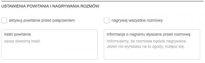 Opcje konfiguracji